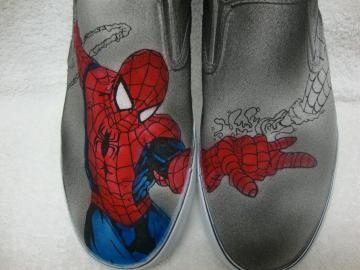 Spiderman Custom Shoes
