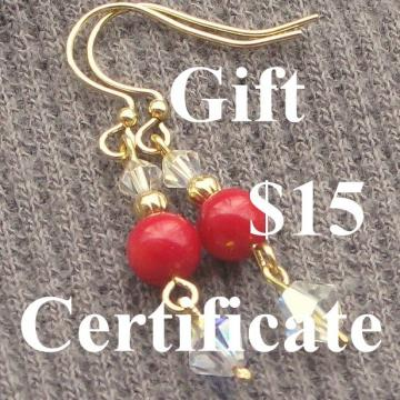 Gift Certificate at DesignedByLucinda 15 Dollars Last Minute