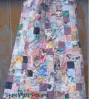 "Multicolored Polished Cotton Lap Quilt for Girls, Teens, Women & Wheelchairs 42"" x 57"""