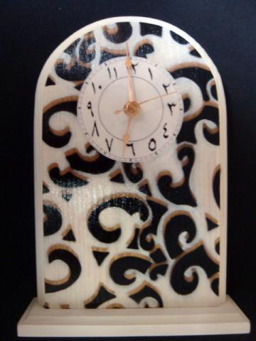 Standing Arabic Black &amp; Gold Clock