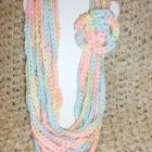 "<div align=""center""><h1><strong>""color: Candy Hearts // Long Scarf Necklace Pastel Rainbow Crochet Multichain Flower Statement Infinity Chunky // FREE SHIPPING IN U.S."" by <a href=""http://www.zibbet.com/IsabellaWesley"">IsabellaWesley</a></strong><br />$21.99<span> USD </span> </h1><a href=""http://www.zibbet.com/IsabellaWesley/artwork?artworkId=1709708""> Click to view more details </a></div>"