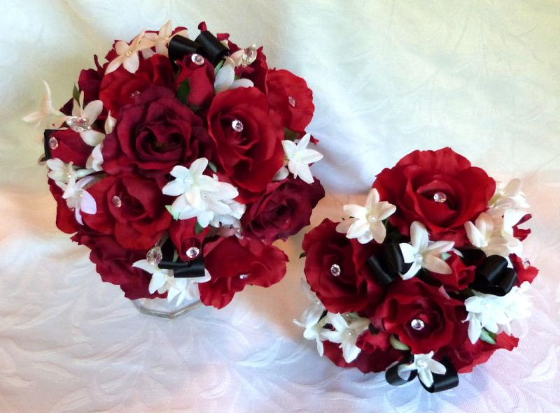 Wedding Bouquets Red And Black :