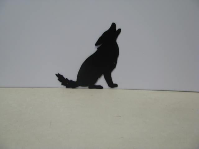 Coyote head silhouette