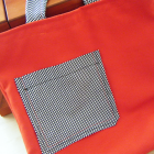 Reversible Red and Black Tote Bag