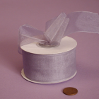 7/8 Sheer Ribbon - Silver