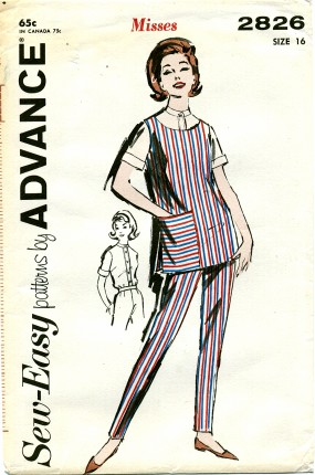 Vintage Advance 2826 Sewing Pattern Tunic & Pants
