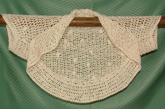 Free Crochet Patterns Summer Bolero : Click to Enlarge Image