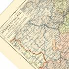 Switzerland, Bavaria, Southern Germany 1885 Joseph Meyer Engraved Map