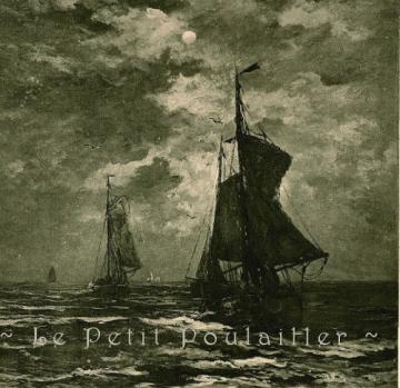 Antique 1892 Hendrick Willem Mesdag Paris Salon Engraving, Retour des Barques