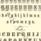 1873 Victorian Alphabets To Learn Your A B C's