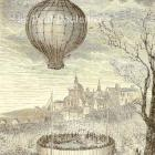 First Hot Air Balloon Fatality 1869 Victorian Engraving