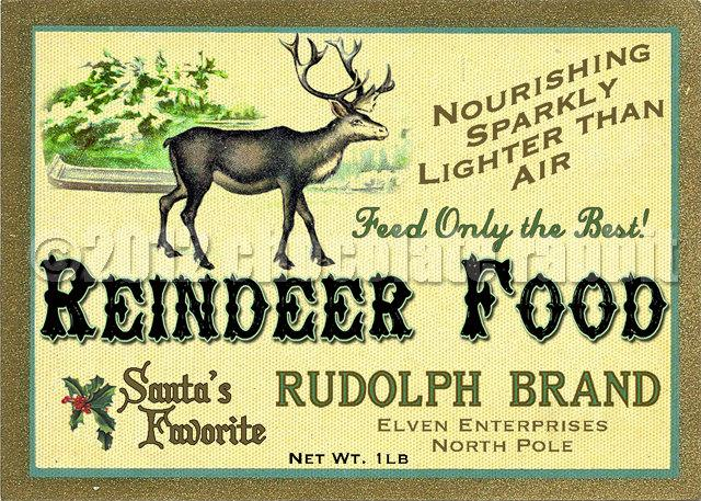 Reindeer Food Label Vintage Digital Download Collage Sheet Printable ...