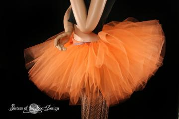 Orange Sorbet extra poofy tutu skirt Adult -- You Choose Size --Sisters of the Moon