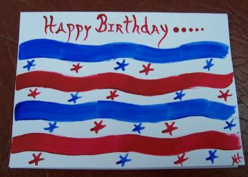 Stars and Stripes Birthday Note Card