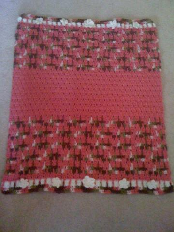 Crochet Baby Blankets - Girls Handmade Crochet Baby Blankets