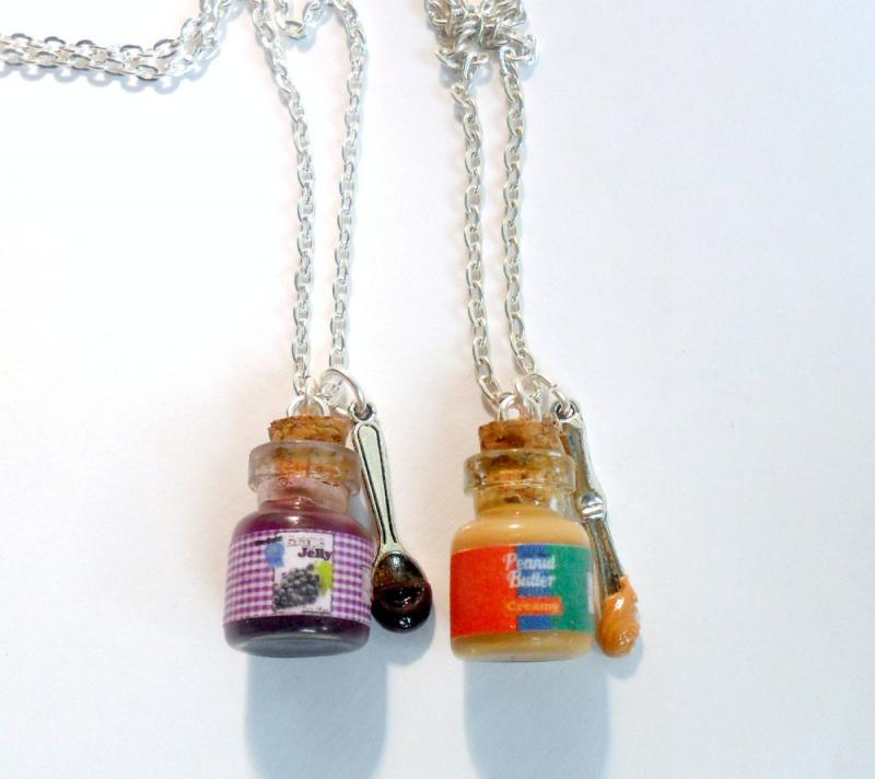 Cute Bff Necklaces Bff peanut butter and jelly Peanut Butter And Jelly