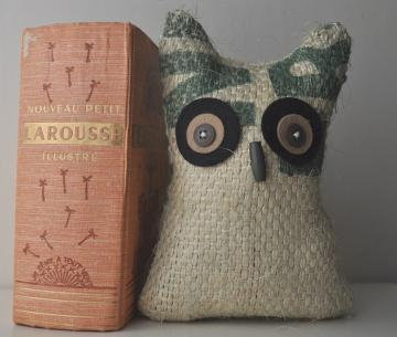 Coffee Sack - Little Bookend Owl by Tailys