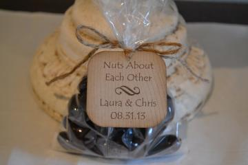 Nuts About Each Other - wedding favor tag - customizable by Indelible Impressions