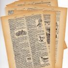 French Dictionary Pages Set Of 6 For Altered Art, Mixed Media Jewelry And Collage