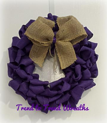Deep Purple Burlap Wreath by Trend to Trend Wreaths