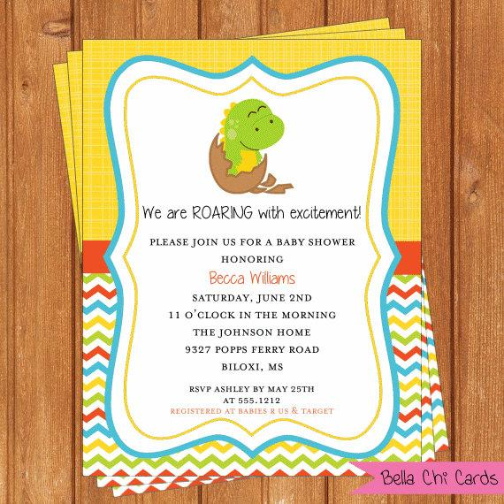 dinosaur baby shower invitations bsi300diy