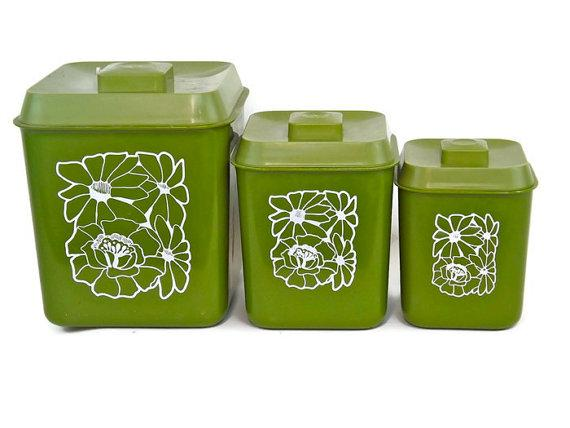 click to enlarge image avocado green kitchen canister set of 4