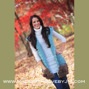 Blue Dream Scarf Hoodlet with Pockets Crochet Pattern