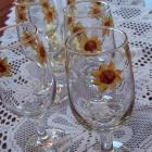 Sunflower Wine Glasses-Set of Six