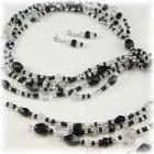 Black Tie Affair Lariat Necklace Jewelry Set
