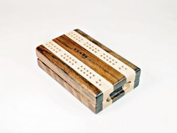 Compact Travel Cribbage - Shedua & Maple
