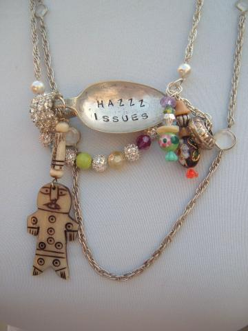 Issues Spoon necklace kitsch colorful one of a kind recycle