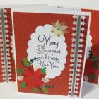 Christmas Cards Merry Christmas and Happy New Year Handmade  Set of 3