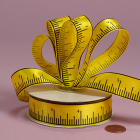 7/8  Satin - Tape Measure Ribbon