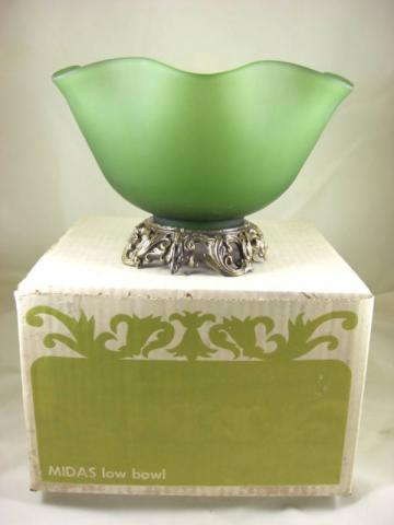 Vintage - Midas Low Bowl Green 1960s