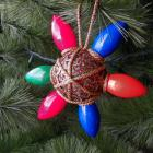 Repurposed Christmas Star Lightbulb Ornament