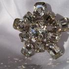 Weiss Rhinestone Stacked Brooch Signed