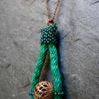Into The Green, handmade kumihimo pendant on necklace