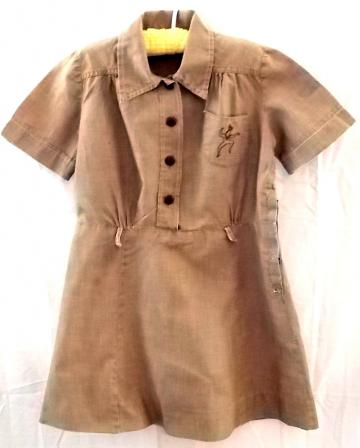 1950s Brownie Uniform Girl Scouts Dress