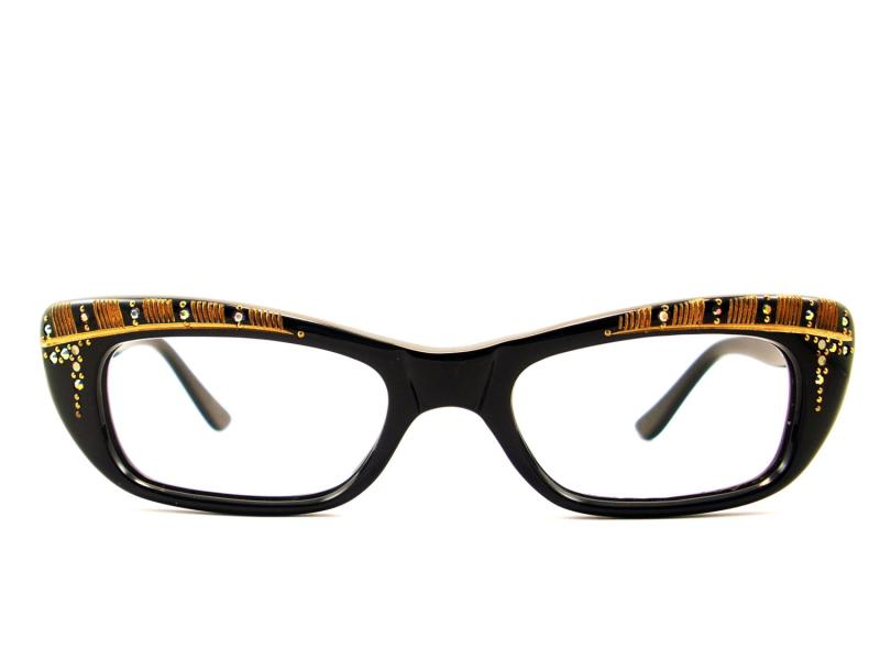 Vintage Black Frame Glasses : #