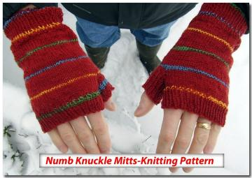 Numb Knuckles - Fingerless Mitts Knitting Pattern