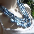 Accessories(3-Strand Necklace/Choker/2-Toned Blues/Crocheted)