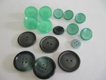 Set of Green Plastic Buttons