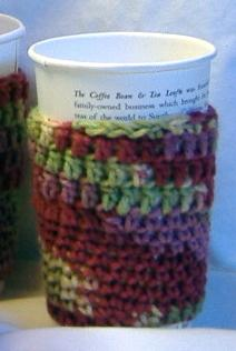 Coffee Cup Sleeve Hot or Cold in Multi Colors