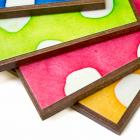 Handmade Paper Colorful Polka Dot Coasters