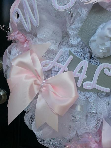 Baby Shower Deco Mesh Wreath