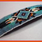 Hand Beaded Native Style Light Blue Large Fashion Barrette