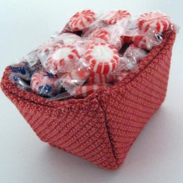 Unique Fabric Gift Basket in Red Orange