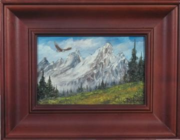 Miniature Tetons and Eagle