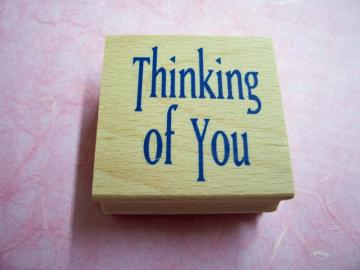 New Thinking of You Rubber Stamp