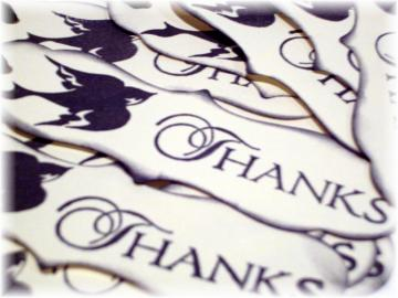 The Bird of THANKS Gift TAGS